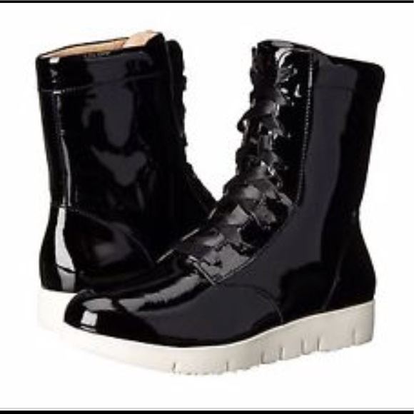 Black Patent Leather Tsubo Boots